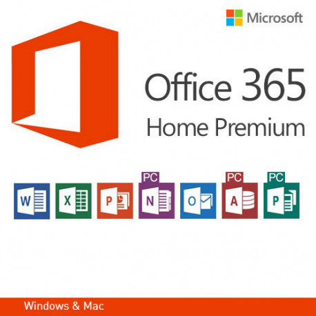 Microsoft Office 365 Home Premium, EN version 32 i 64 bit