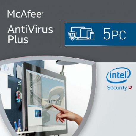 McAfee Antivirus Plus 2018 5 Urządzeń