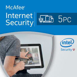 McAfee Internet Security 2017 5 PC licencja na rk